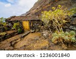 exterior of abandoned stone... | Shutterstock . vector #1236001840