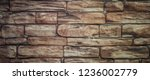 background from a brick wall...   Shutterstock . vector #1236002779