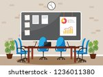 office workplace conference... | Shutterstock .eps vector #1236011380