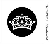 crown icon  crown vector art... | Shutterstock .eps vector #1236016780