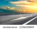 empty asphalt road and... | Shutterstock . vector #1236020809