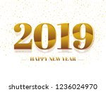 happy new year greeting card... | Shutterstock .eps vector #1236024970