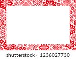 chinese new year card. chinese... | Shutterstock .eps vector #1236027730