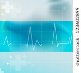 electrocardiogram graphic | Shutterstock .eps vector #123602899
