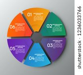 colorful chart circle with 6... | Shutterstock .eps vector #1236033766
