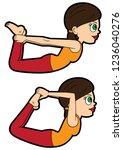 illustration cartoon girl doing ... | Shutterstock .eps vector #1236040276