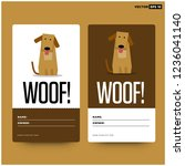 woof dog name tag id card...   Shutterstock .eps vector #1236041140