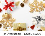 christmas background with... | Shutterstock .eps vector #1236041203