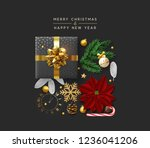 christmas background with... | Shutterstock .eps vector #1236041206