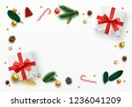 christmas background. xmas... | Shutterstock .eps vector #1236041209