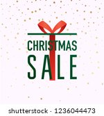 christmas sale banner in a... | Shutterstock .eps vector #1236044473