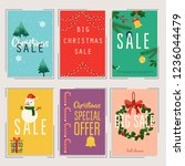 set of christmas sale banners...   Shutterstock .eps vector #1236044479