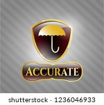 gold badge or emblem with... | Shutterstock .eps vector #1236046933
