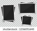 photo picture frame polaroid.... | Shutterstock .eps vector #1236051640