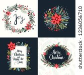 christmas collection of four... | Shutterstock .eps vector #1236056710