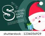 secret santa party banner...   Shutterstock .eps vector #1236056929