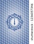 necktie icon inside blue emblem ... | Shutterstock .eps vector #1236057346