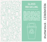 glass waste recycling... | Shutterstock .eps vector #1236064336