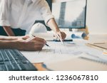 team of construction... | Shutterstock . vector #1236067810