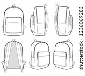 backpack fashion flat technical ... | Shutterstock .eps vector #1236069283