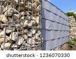 gabion fence wall | Shutterstock . vector #1236070330