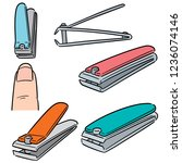 vector set of nail clipper | Shutterstock .eps vector #1236074146