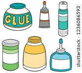 vector set of glue | Shutterstock .eps vector #1236086593