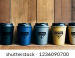 choice of reusable coffee mug... | Shutterstock . vector #1236090700
