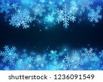 blue new year banner with... | Shutterstock .eps vector #1236091549