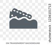 side crash icon. trendy flat... | Shutterstock .eps vector #1236101713