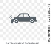 parking crash icon. trendy flat ... | Shutterstock .eps vector #1236101746