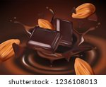 chocolate flavor with almond... | Shutterstock .eps vector #1236108013