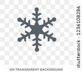 snowflake icon. snowflake... | Shutterstock .eps vector #1236108286