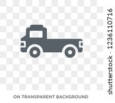 flatbed lorry icon. flatbed... | Shutterstock .eps vector #1236110716