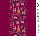 christmas seamless pattern with ... | Shutterstock .eps vector #1236111346
