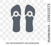 pair of flip flops icon. pair... | Shutterstock .eps vector #1236113173