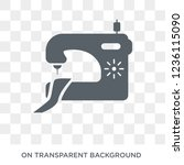tailoring machine icon.... | Shutterstock .eps vector #1236115090