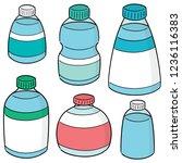 vector set of water bottle | Shutterstock .eps vector #1236116383