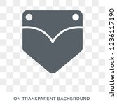 jeans pocket icon. jeans pocket ...   Shutterstock .eps vector #1236117190