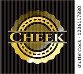 cheek gold emblem | Shutterstock .eps vector #1236117880