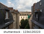 roofs's view from a penthouse... | Shutterstock . vector #1236120223