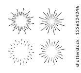 set of light rays  sunburst and ...   Shutterstock .eps vector #1236124246