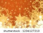 2d illustration. snowflakes... | Shutterstock . vector #1236127213