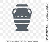 ancient jar icon. ancient jar... | Shutterstock .eps vector #1236128560