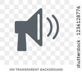 speaker icon. speaker design... | Shutterstock .eps vector #1236128776