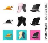 vector illustration of headgear ...   Shutterstock .eps vector #1236131503