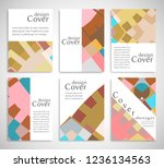 set of a4 cover  abstract...   Shutterstock .eps vector #1236134563