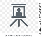 museum canvas icon. museum... | Shutterstock .eps vector #1236135439