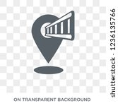 museum map icon. museum map... | Shutterstock .eps vector #1236135766