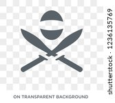 museum fencing icon. museum... | Shutterstock .eps vector #1236135769